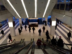 parallel-pursuit-escalators-in-train-station-indicating-parallel-career-actvities