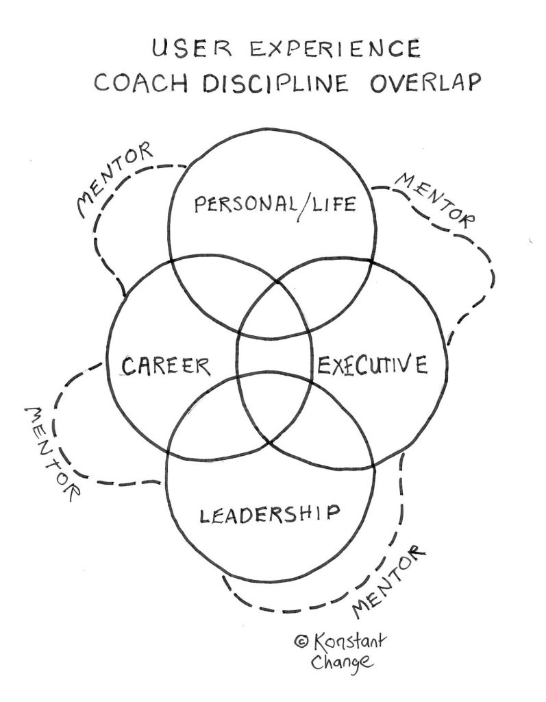 four-circles-and-wavy-line-showing-overlap-career-executive-personal-life-leadership-coaching-with-mentorship-weaving through
