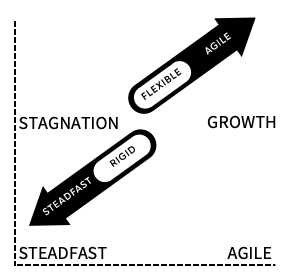 diagram-arrows-showing-stagnation-growth-steadfast-agility